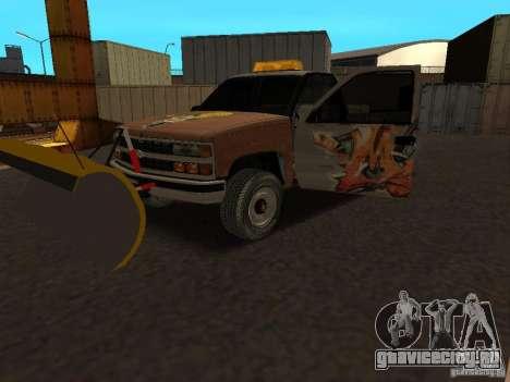 Chevrolet Silverado для GTA San Andreas вид сзади
