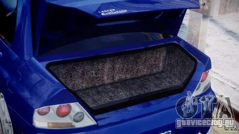 Mitsubishi Lancer Evolution VIII для GTA 4 вид изнутри