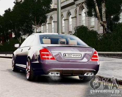 Mercedes-Benz S65 AMG 2010 Final для GTA 4 вид сзади