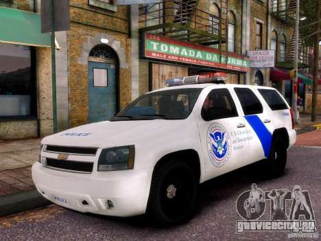Chevrolet Tahoe New York Police для GTA 4 вид сзади