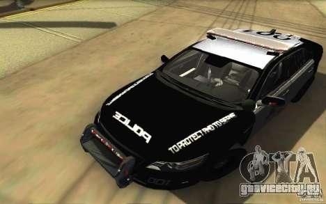 Ford Taurus 2011 LAPD Police для GTA San Andreas вид сверху