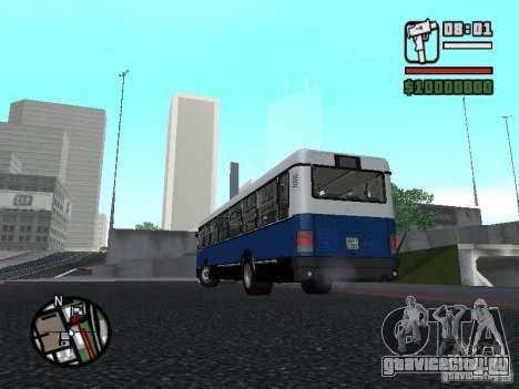 Ikarus 415.02 для GTA San Andreas вид изнутри