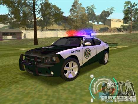 Dodge Charger Policia Civil from Fast Five для GTA San Andreas