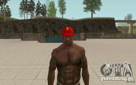 Кепка ferrari для GTA San Andreas второй скриншот