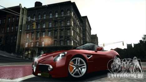 Alfa Romeo 8C Spyder для GTA 4 вид слева