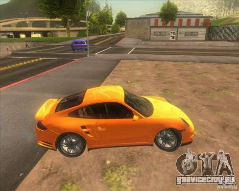 Porsche 911 Turbo (997) 2007 для GTA San Andreas вид сзади слева