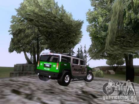 Hummer H2 Polizei для GTA San Andreas вид справа