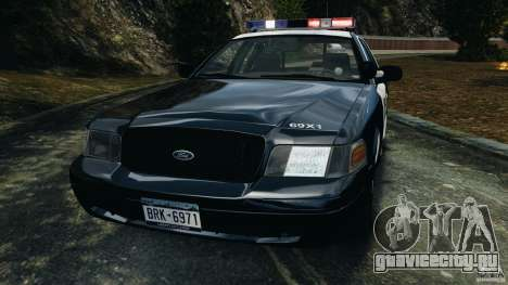 Ford Crown Victoria Police Interceptor 2003 LCPD для GTA 4 вид изнутри