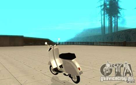 GTAIV EFLC Faggio Classic для GTA San Andreas вид сзади слева