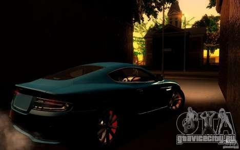 Aston Martin Virage V1.0 для GTA San Andreas вид сзади