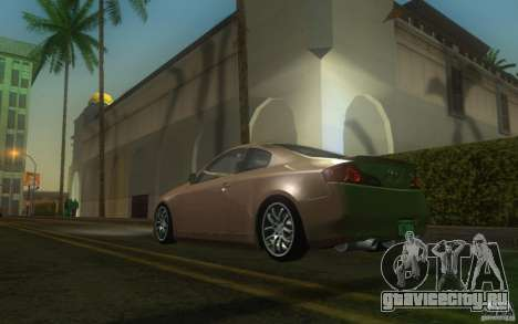 Infiniti G35 - Stock для GTA San Andreas вид сзади слева