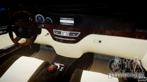 Mercedes-Benz S600 Guard Pullman 2008 для GTA 4 вид сзади