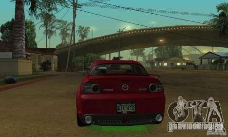 Зелёная неоновая подсветка для GTA San Andreas второй скриншот