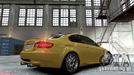 BMW M3 E92 2008 для GTA 4 вид слева