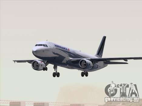 Airbus A320-211 Air France для GTA San Andreas вид снизу