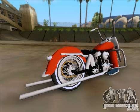 Harley-Davidson FL Duo Glide 1961 (Lowrider) для GTA San Andreas вид сзади слева