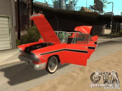 Plymouth Belvedere Sport sedan для GTA San Andreas вид сзади слева