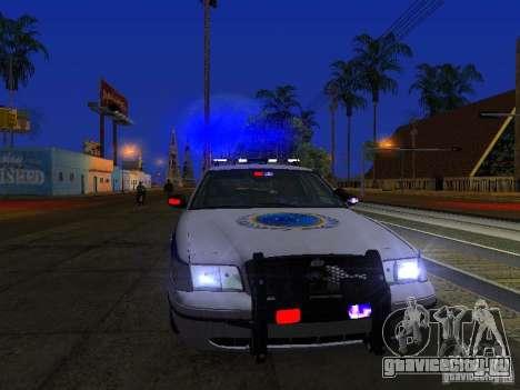 Ford Crown Victoria Police Interceptor 2008 для GTA San Andreas вид сверху