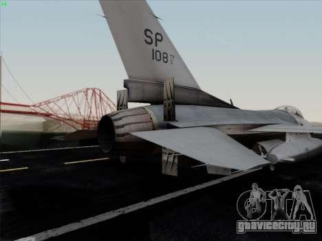F-16C Warwolf для GTA San Andreas двигатель