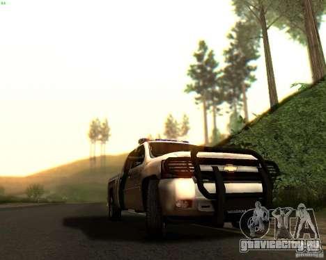 Chevrolet Silverado Police для GTA San Andreas салон