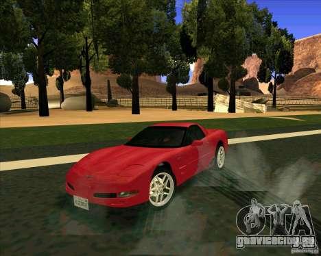 Chevrolet Corvette C5 z06 для GTA San Andreas вид справа