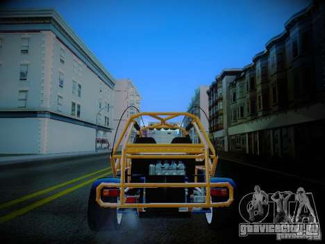 Buggy From Crash Rime 2 для GTA San Andreas вид сзади слева