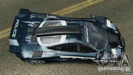 McLaren F1 ELITE Police [ELS] для GTA 4 вид справа