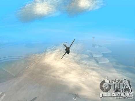 Миг 15 С рабочим вооружением для GTA San Andreas вид сзади