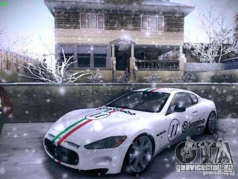 Maserati Gran Turismo S 2011 V2 для GTA San Andreas вид изнутри