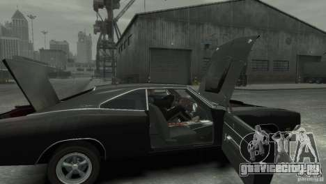 Dodge Charger RT 1969 Tun для GTA 4 вид сзади