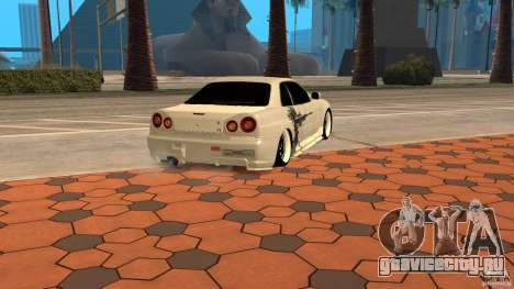 Nissan Skyline R-34 для GTA San Andreas вид слева