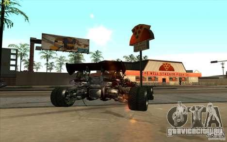 XCALIBUR CD 4.0 XS-XL RACE Edition для GTA San Andreas вид сзади слева