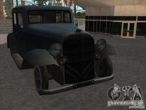 Автомобиль второй мировой войны для GTA San Andreas вид сзади