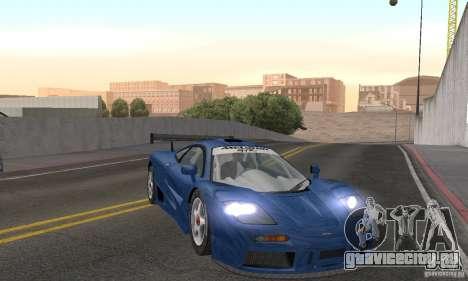 Mclaren F1 GTR (v1.0.0) для GTA San Andreas вид сзади