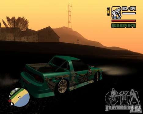 Nissan RPS13 Pick-Up Moscow Drift для GTA San Andreas вид сзади слева