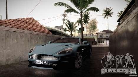 Aston Martin Vanquish V12 для GTA San Andreas вид сзади