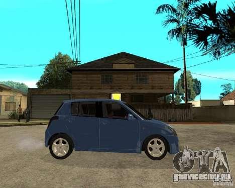 2007 Suzuki Swift для GTA San Andreas вид справа
