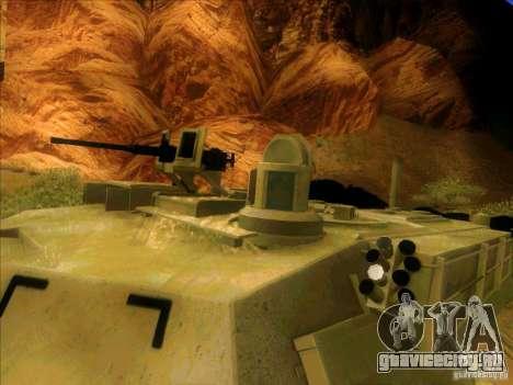 M1A2 Abrams из Battlefield 3 для GTA San Andreas вид изнутри