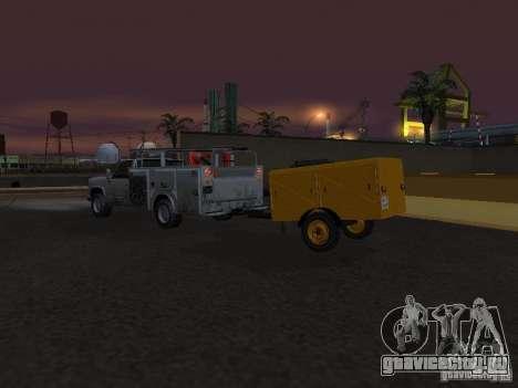 Прицеп Компрессорная станция для GTA San Andreas вид изнутри