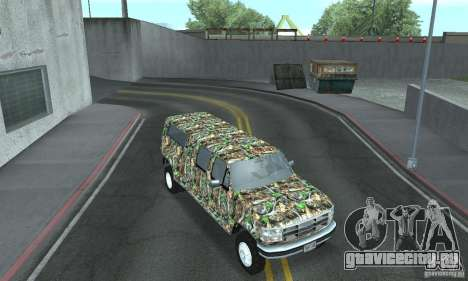 Ford F-350 1992 для GTA San Andreas вид изнутри