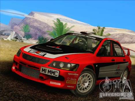 Mitsubishi Lancer Evolution IX Rally для GTA San Andreas вид слева