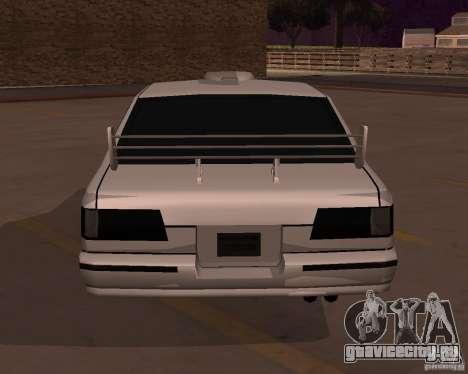 Taxi для GTA San Andreas вид сзади слева