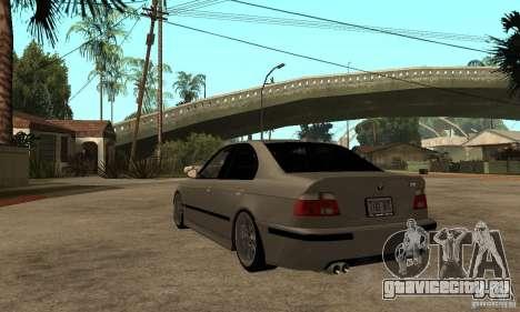 BMW E39 M5 Sedan для GTA San Andreas вид сзади слева