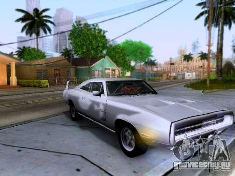 Dodge Charger RT для GTA San Andreas вид изнутри