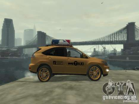 Lexus RX400 New York Taxi для GTA 4 вид изнутри