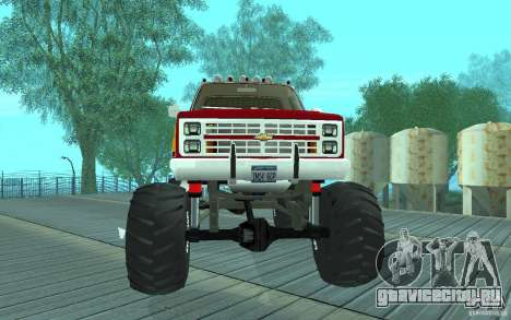 Chevrolet Silverado 2500 MonsterTruck 1986 для GTA San Andreas вид слева