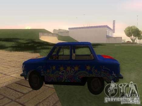 Хиппи ЗАЗ для GTA San Andreas вид слева