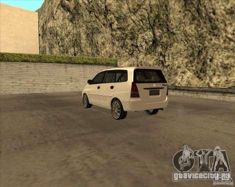 Toyota Innova для GTA San Andreas вид справа