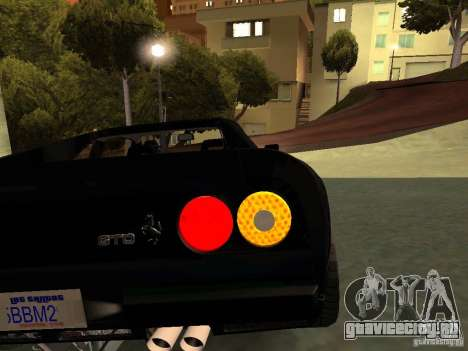 Ferrari 288 GTO для GTA San Andreas вид снизу