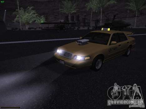 Ford Crown Victoria Taxi 2003 для GTA San Andreas вид сверху